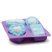 4连天使玫瑰硅胶手工皂模 硅胶蛋糕模 蛋糕工具diy silicone制品