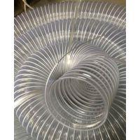塑料包塑钢丝软管 增强软管透明PVC加筋管