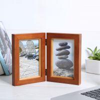 实木创意相框摆台2张6寸照片双合页屏风相框影楼写真相架厂家批发