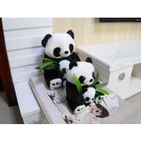 毛绒玩具现货直销 可爱娃娃母子熊猫情侣公仔生日礼品一件代发