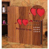 【送铁环】12寸木质DIY相册 手工粘贴式影集 家庭儿童情侣纪念册