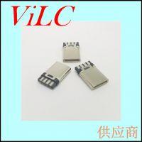 超薄TYPE C公头 焊线式8P-双面焊接 线端USB-C插头 大电流快充