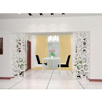 广东波浪板厂家专业定制室内功能隔断装饰板雕花板密度板镂空板