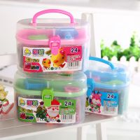 新款24色超大豪华套装彩泥橡皮泥DIY玩具儿童益智玩具批发。