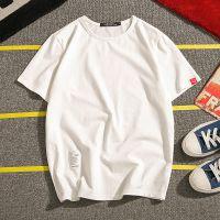 微胖子夏季短袖薄款男士纯色T恤男潮青年肥佬学生纯棉半袖t打底衫