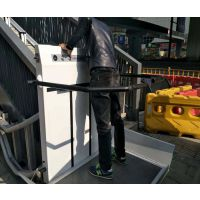 武汉市汕尾市居民小区残疾人升降机 斜挂式轮椅电梯 启运老年人爬楼升降设备