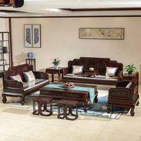 实木古典中式红木沙发-酸枝木沙发-东非酸枝宝座沙发11件-红木家具厂直销