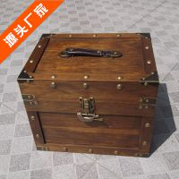 复古家居软装装饰用品 摄影道具箱收纳箱 仿古箱复古光板手提箱