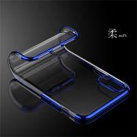 新款iPhoneX三段电镀透明TPU 1加6三星软保护套全包手机壳创意壳