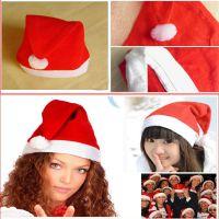 新款圣诞装饰无纺布 圣诞节装饰品帽子 儿童成人圣诞帽 厂家批发