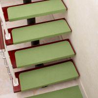 居家楼梯垫 免胶自粘地垫  保暖实木防滑地毯  踏步垫