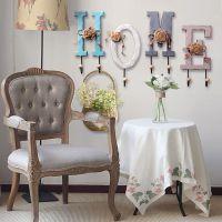 [-挂钩]壁挂复古木质字母美式家居客厅玄关创意挂件装饰品