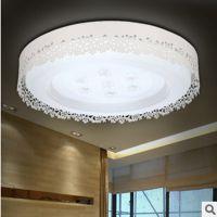 现代田园LED卧室灯镂空雕花吸顶灯温馨房间客厅圆形书房灯具灯饰