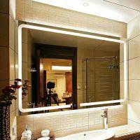 壁挂浴室镜子led灯镜智能蓝牙高清卫浴镜无框卫生间防雾镜 正白
