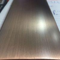 供应佛山不锈钢纳米高分子仿铜做旧板304金属水镀铜彩色平板仿古铜板材