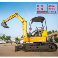 河南洛阳全新3.5吨液压履带式小型挖掘机 高效率一机多用挖土机 小勾机