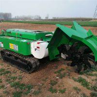 电启动果树开沟松土机 大棚蔬菜双履带施肥机 自动回填开沟机现货