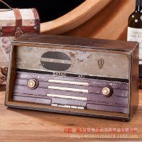复古收音机铁艺模型zakka创意家居装饰品拍摄道具 金属礼品小摆件