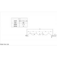 武汉彩钢压型板YX18-76.4-310型墙面彩钢瓦 新之杰压型钢板厂家