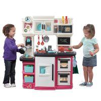 美国Step2 儿童纽约美食餐厅 男女孩过家家仿真厨房做饭厨具套装