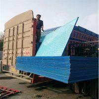 建筑爬架网 建筑外墙安全防护网 蓝色圆孔爬架网