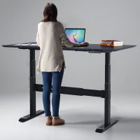 智芯 站立式办公桌智能可升降工作台学习书桌电动升降电脑桌