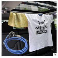 车载创意伸缩晾衣绳汽车衣服架车载用品必备自驾游车用行李挂衣架