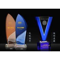 上海定做公司纪念品厂家,员工大会纪念摆件,水晶内雕摆件订购腾洪