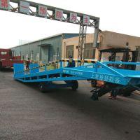 精钢机械液压登车桥厂家/10吨集装箱装载机械