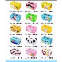 厂家直销 亚克力手工串珠 diy手工餐巾纸盒 方形串珠摆件