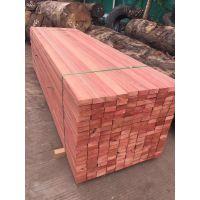 流美木业 红梢木 定尺加工进口户外园林景观木材料