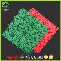生产悬浮式拼装运动地板拼接式室外体育场塑料地板防水耐潮 安装方便