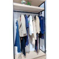 广州品牌折扣女装 一手货源一件代发菁姿双面尼品牌折扣店 女式羽绒服