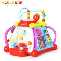 汇乐玩具806快乐小天地宝宝学习桌多功能益智游戏桌儿童早教1-3岁