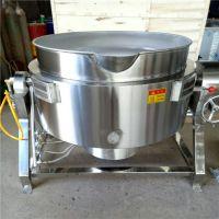 陕西全自动化糖夹层锅 大型食堂用熬粥锅 400L熬汤锅价格