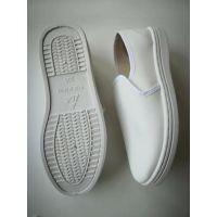蝙蝠王厂家直销PVC底白色皮革中巾款防静电鞋