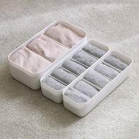 2683分格袜子收纳盒塑料内衣内裤储物盒桌面抽屉整理盒家用可叠加
