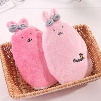 创意毛绒布套充水热水袋 可爱兔子造型注水热水袋灌水暖水宝