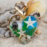 海洋景区热销产品 海洋琥珀钥匙扣挂饰 精美旅游纪念品小礼品