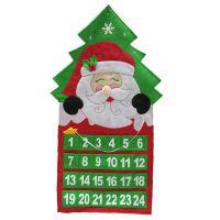 圣诞节礼品圣诞老人雪人挂历公仔礼品毛绒布挂件