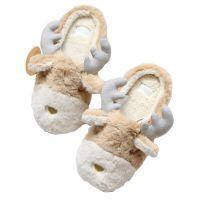 厂家定制情侣拖鞋冬室内居家居保暖可爱毛拖鞋女毛绒裸熊卡通包跟