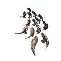 金属雕塑不锈钢抽象金鱼壁挂厂家直销家居饰品客厅墙面摆件