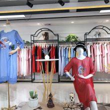 杭州高端女装【中国韵】19夏复古优雅高端真丝连衣裙品牌折扣女装哪里找广州莎奴服饰