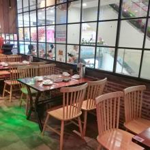 厂家定做火锅桌子,复古餐桌,大理石火锅桌,实木餐桌