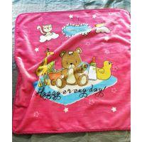 双层压花毯子95*105 小毛毯沙发毯宝宝婴儿儿童母婴店新生儿毯子