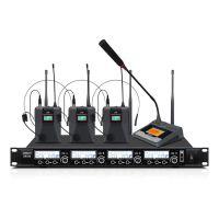 专业无线话筒 一拖二/一拖四U段红外线自动对频麦克风