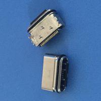 USB 3.1 防水母座 胶芯外露1.05 H=3mm 三脚固定 锡合金 单排贴片