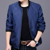 16新款秋季男士夹克外套成熟春秋装中年有领皮衣褂子30-35-40岁春