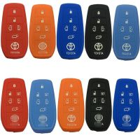 丰田新款埃尔法 普瑞维亚 大霸王硅胶钥匙包汽车钥匙套专用遥控包