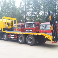 150挖机拖车解放龙V单桥大马力平板运输车上高速不超重